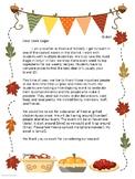 Friendsgiving Grocery Store Donation Letter **editable**