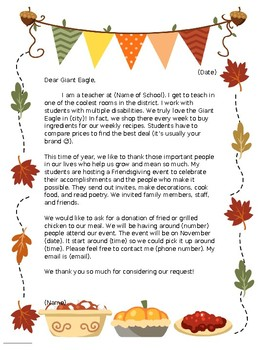 Request For Food Donation Letter from ecdn.teacherspayteachers.com