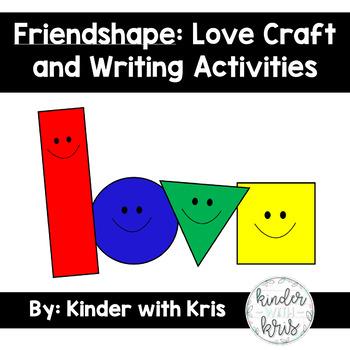 Friendshape Writing Activity