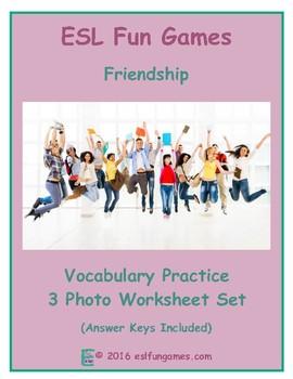 Friendship 3 Photo Worksheet Set