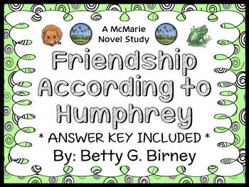 Friendship According to Humphrey (Betty G. Birney) Novel Study / Comprehension