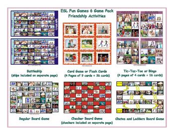Friendship Activities 6 Board Game Bundle