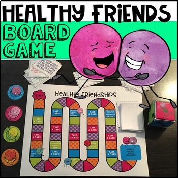 Friendship Activities Board Game By The Counseling Teacher Brandy