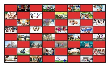 Friendship Activities Legal Size Photo Checkerboard Game
