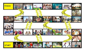 Friendship Activities Legal Size Photo Chutes and Ladders Game