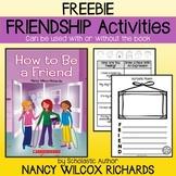 Friendship Activities Freebie-No prep: writing, kindness challenge, certificates