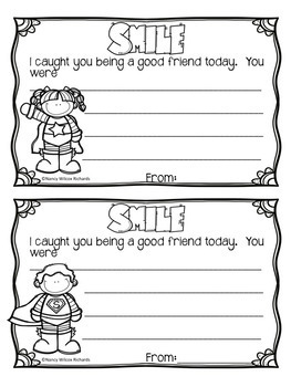Friendship Activities Freebie-No prep: writing, kindness challenge, certificates