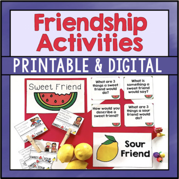 Friendship Activities: I Can Be A Sweet Friend