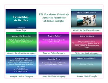 Friendship Activities PowerPoint Slideshow