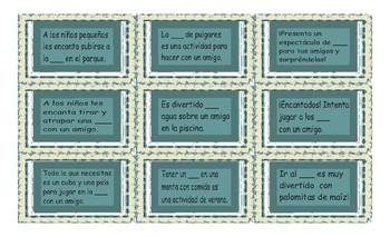 Friendship Activities Spanish Card Game