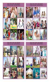 Friendship Activities Tic-Tac-Toe or Bingo