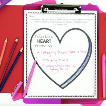 Friendship Activities - Valentine's Day Themed