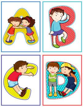 Friendship Alphabet Flash Cards; Kindergarten; Preschool; Homeschool; ABC
