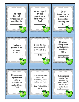 Friendship Apples to Apples Game