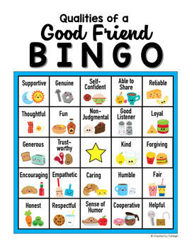 Back to School Icebreaker - Friendship Bingo and Worksheet ...