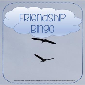 Friendship Bingo from my Friend Focus Week