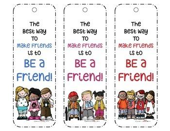 Friendship Bookmarks FREEBIE