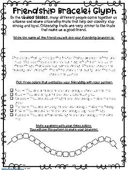 Friendship Bracelet Glyph - Texas/U.S Symbols Integration
