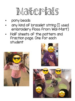 Friendship Bracelets with Fractions and Patterns