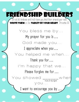 Friendship Builders: Ways to start a friendly letter