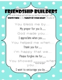 Friendship Builders: Ways to start a friendly letter