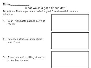 Friendship Building Activities