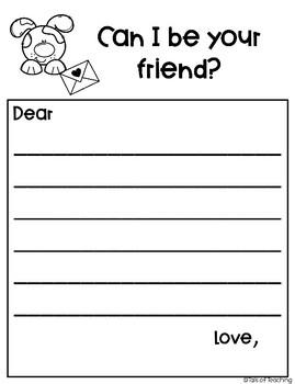Friendship Building Letter Activity