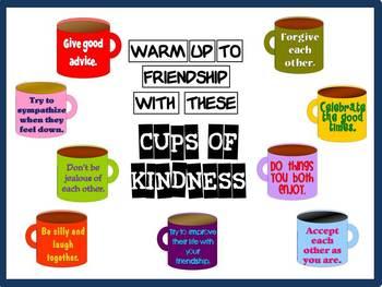 Friendship Bulletin Board Kit: Cups of Kindness