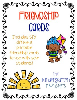 Friendship Cards {Free}