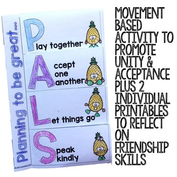 Friendship Classroom Guidance Lesson for Elementary School Counseling Pineapple