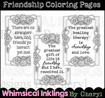 Friendship Coloring Page Worksheets & Teaching Resources | TpT