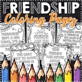Friendship Coloring Pages | Friendship Posters | 10 Fun, Swirly Designs