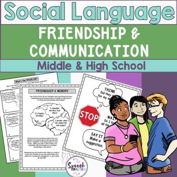 Friendship & Communication: Social Language Middle & High School