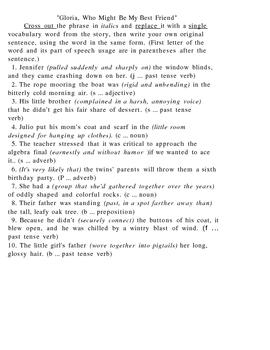 Friendship Crossword and Worksheet