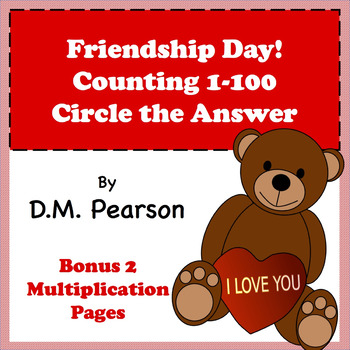 Friendship Day! Counting 1-100, Circle the Answer