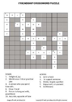 Friendship Day crossword