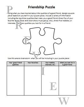 Friendship Exploration (activities, resources, projects, and handouts)