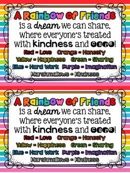 Friendship Freebie {Rainbow of Friends} {Beginning of the Year Activity}