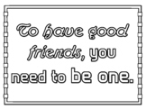 Friendship, Growth Mindset, 4 by 3 feet, Coloring Poster, Collaborative Art