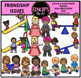 Friendship Issues Clip Art Bundle {Educlips Clipart}
