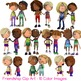 Friendship Kids Clip Art 10 Color Images Friends and Relationships
