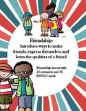 Friendship Lesson 16 scenarios and 20 BINGO cards ASCA