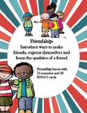 Friendship Lesson 16 scenarios and 20 BINGO cards ASCA