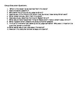 Friendship Lesson using English Roses