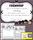 Friendship Listening Center Response Pages QR codes to read-alouds & prompts