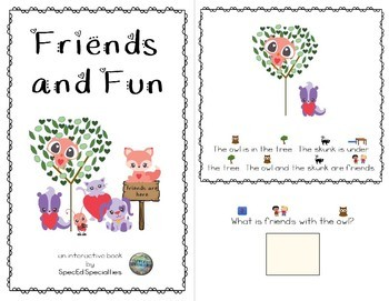 Friendship, Love, Valentine's Day Reading Comprehension adapted books (Level 2)