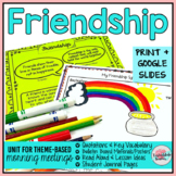 Friendship Activities | Friendship Morning Meeting Theme in Literature