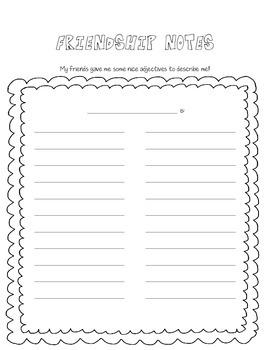 Friendship Notes