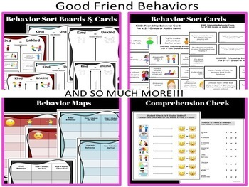 SOCIAL SKILLS  Friendship Pack 2 {Differentiated For k-2nd Grade/Ability Level}