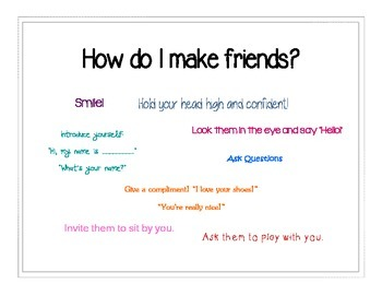 Friendship Packet: Types of Friends & Making Friends